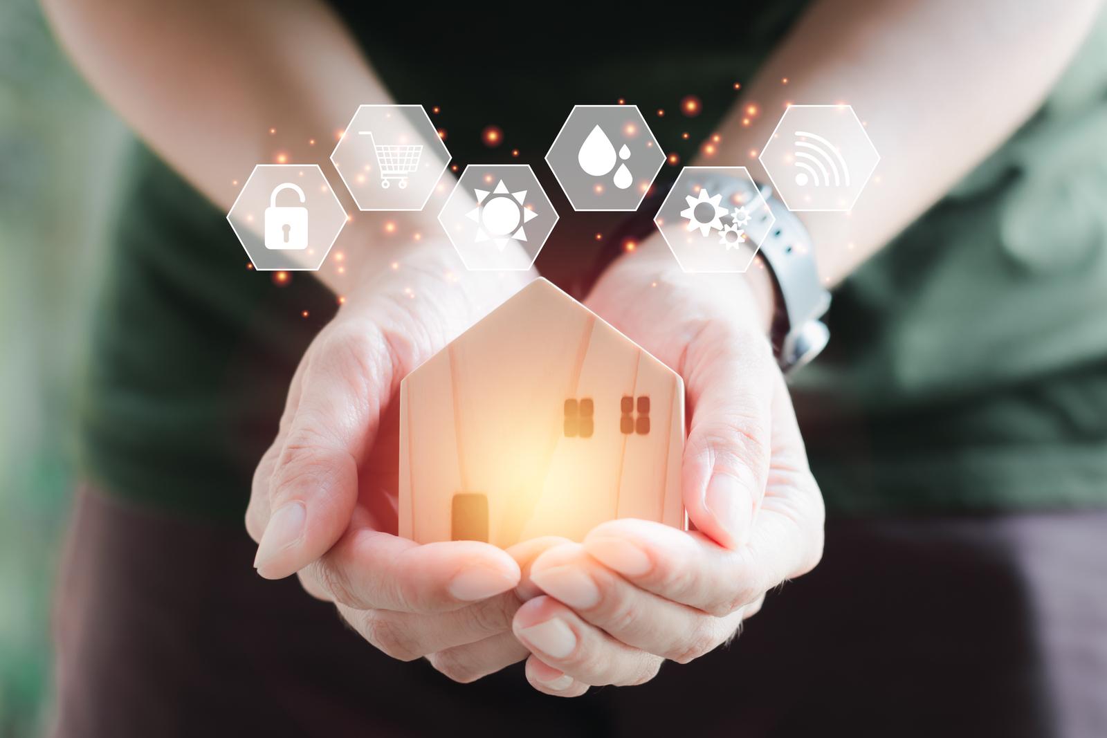 smart home in hands